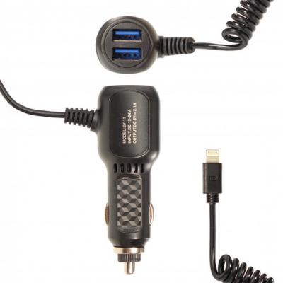Автомобильное зарядное устройство 5V 2.1A Витой кабель Type-C