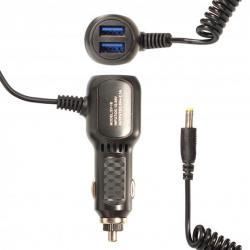Автомобильное зарядное устройство 5V 2.1A Витой кабель 4.0x1.7 мм