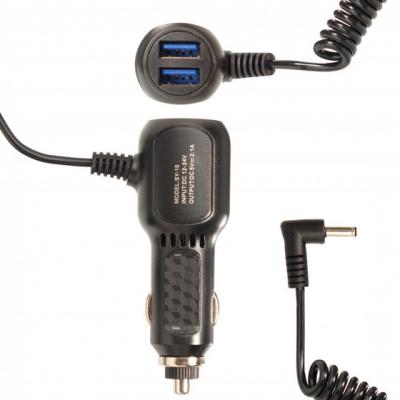 Автомобильное зарядное устройство 5V 2.1A Витой кабель 2.5x0.7 мм