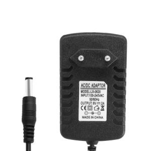Блок питания 6V 2A 5.5x2.1 мм (AC DC Adapter) арт.75320
