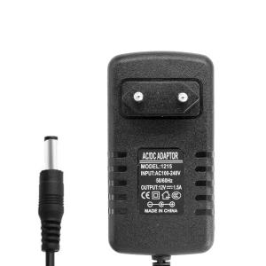 Блок питания 12V 1.5A 5.5x2.5 мм (адаптер, зарядное устройство) арт.55316