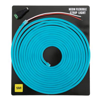 Светодиодная неоновая лента 5 метров (голубая)