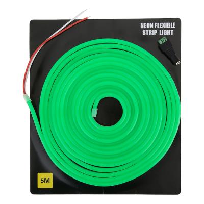 Светодиодная неоновая лента 5 метров (зелёная)