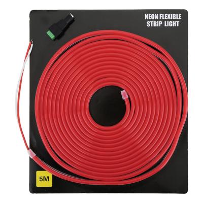 Светодиодная неоновая лента 5 метров (красная)