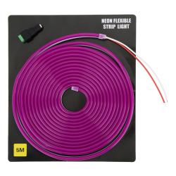 Светодиодная неоновая лента 5 метров 12V (фиолетовая)