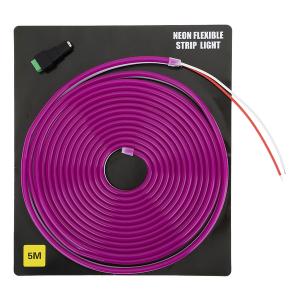 Светодиодная неоновая лента 5 метров 12V (фиолетовая)  арт.29411