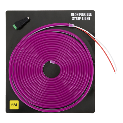 Светодиодная неоновая лента 5 метров (фиолетовая)