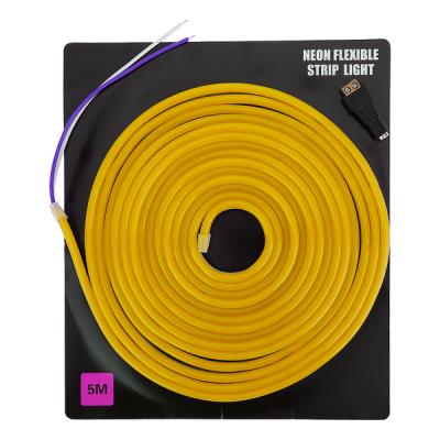 Светодиодная неоновая лента 5 метров (жёлтая)