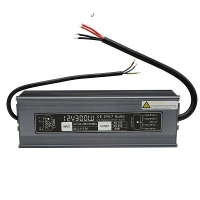 Блок питания 12V 25A 300W IP67 Slim