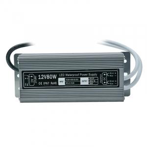 Блок питания 12V 6.6A 80W IP67 Slim  арт.40405