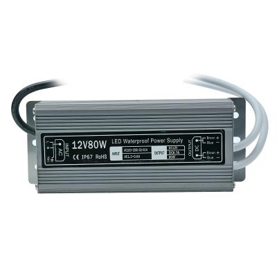 Блок питания 12V 6.6A 80W IP67 Slim